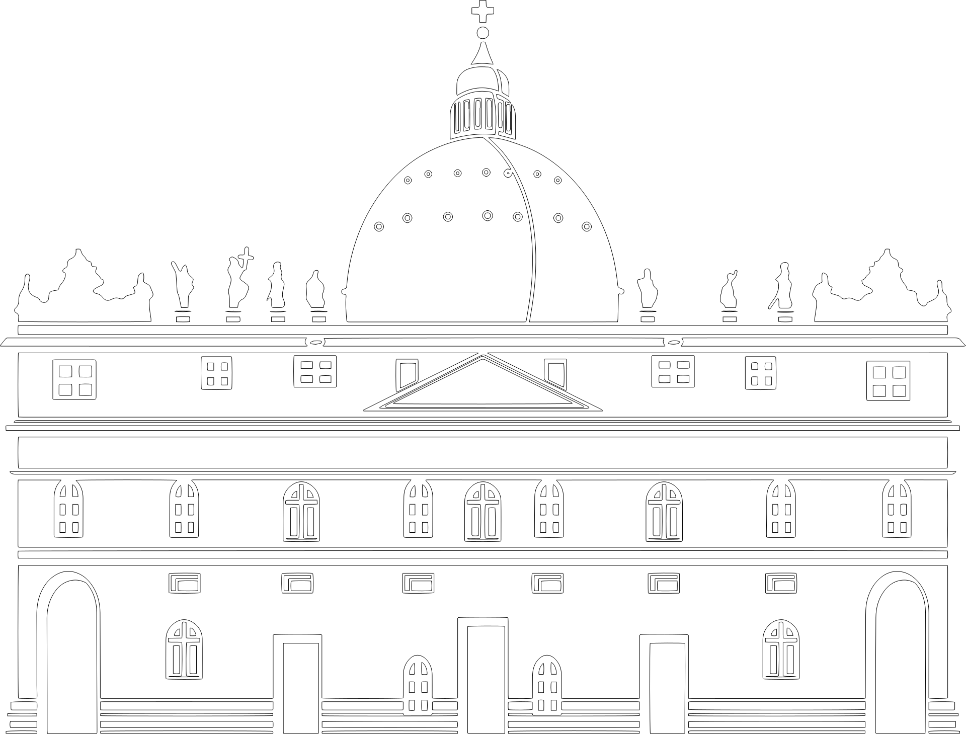 basilica coloring sheet