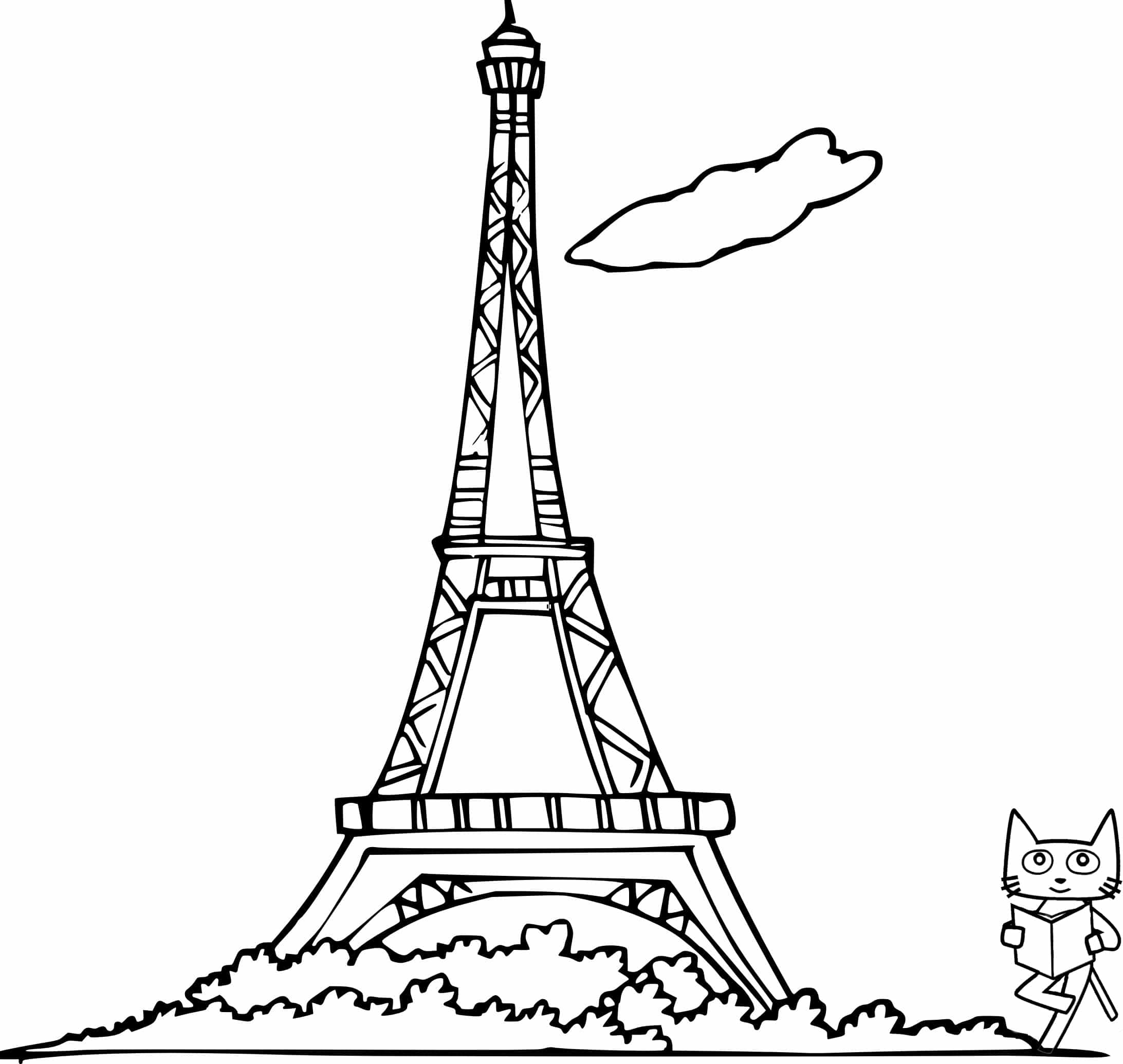 travel paris coloring sheet